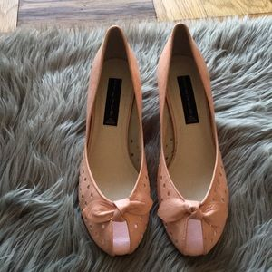 Steve Madden Vintage 50s Pink Patent Peep Toe Shoe